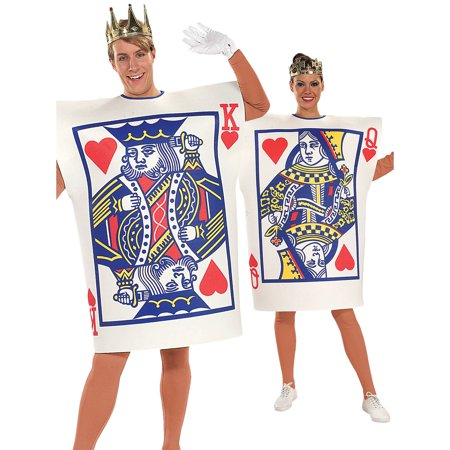 King and queen of hearts adult costume (One Size Fits - 80s Prom King And Queen Costume