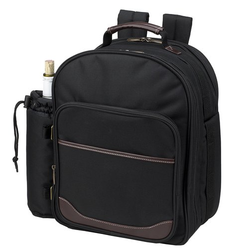 Freeport Park Poly Canvas Picnic Backpack Cooler with Two Place Settings
