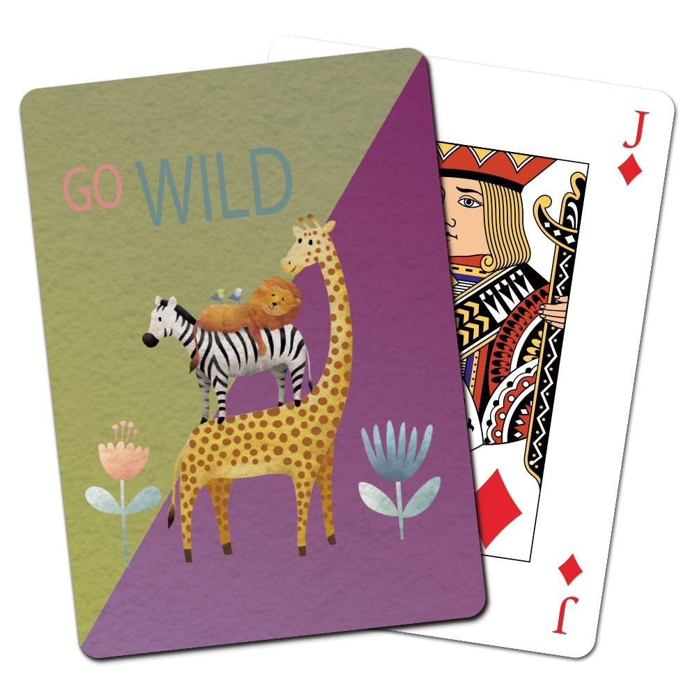 Tree-Free Greetings Giraffe and Friends Playing Cards -CD15409