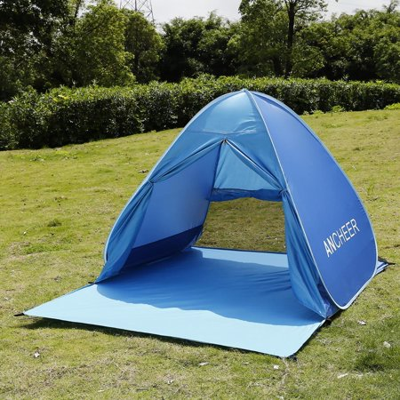 pretty nice 65240 7c45f Automatic Pop Up Beach Tent Outdoor Sun Shelter Shade Cabana for 2 Person
