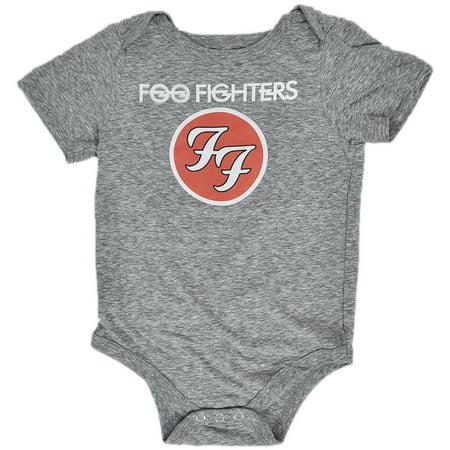 Foo Fighters Infant Baby Rock One Piece Bodysuit Gray