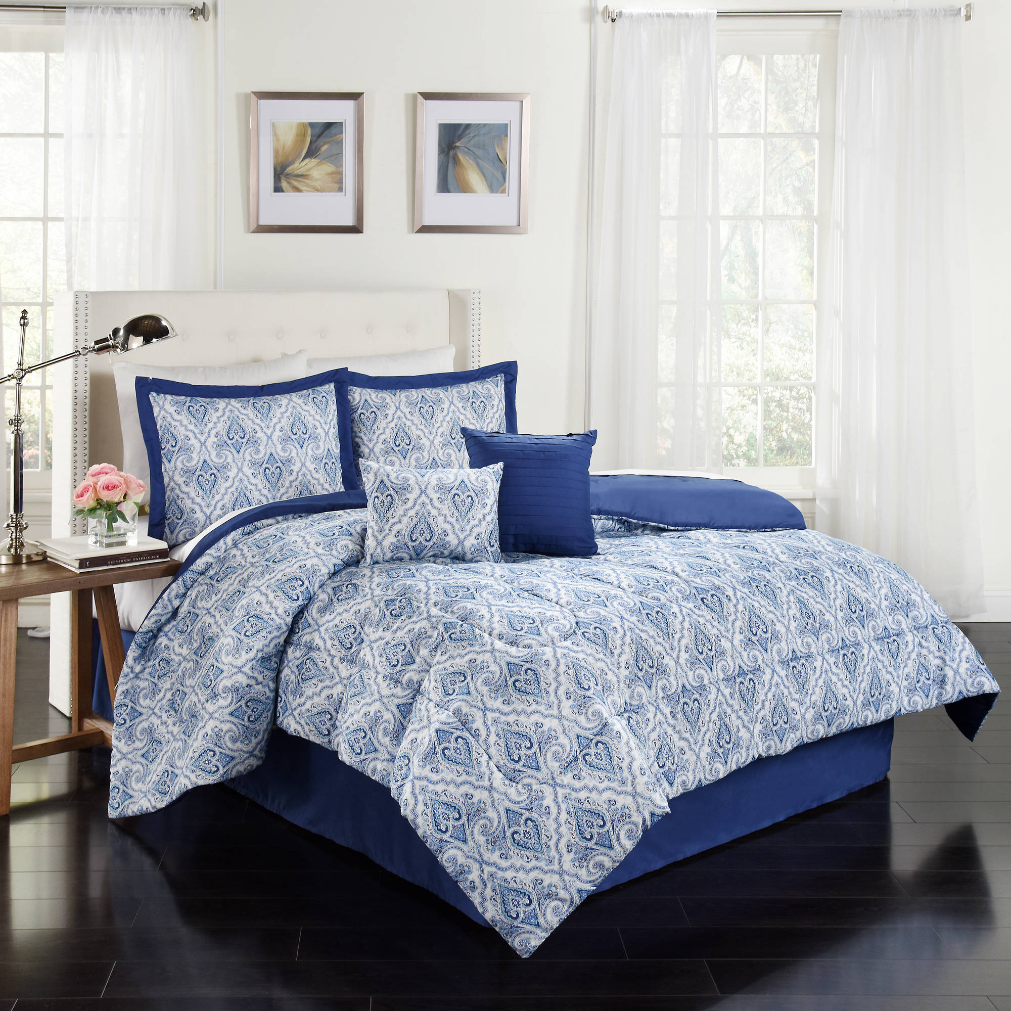 traditions by waverly anatalya 6piece comforter collection walmartcom - Waverly Bedding
