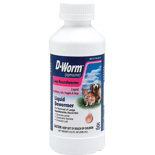 D-Worm Liquid for Kittens, Cats, Puppies & Dogs, 8 oz