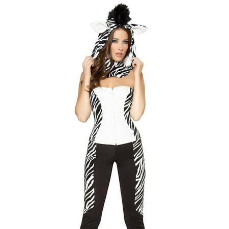 Fw Zoo Halloween (Roma Sexy Womens Zebra Horse Pony Zoo Animal Halloween)