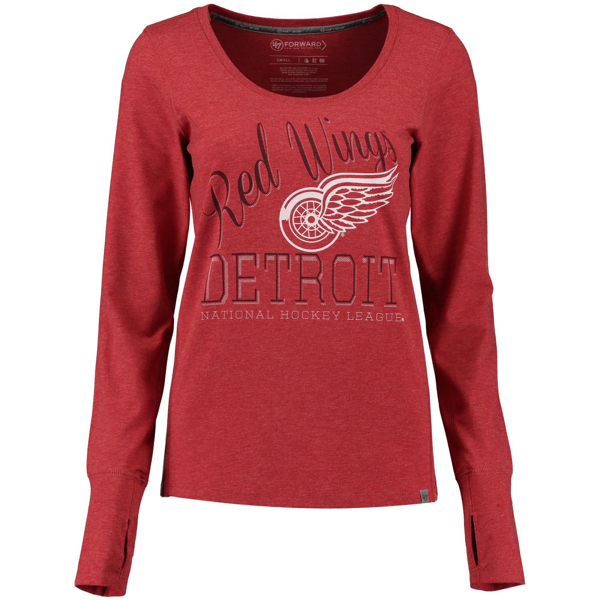 Detroit Red Wings '47 Women's Shift Dash Long Sleeve T-Shirt - Red
