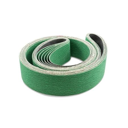 2 X 72 Inch Metal Grinding Zirconia Sanding Belts, 6 (Best Grinding Wheel For Stainless Steel)