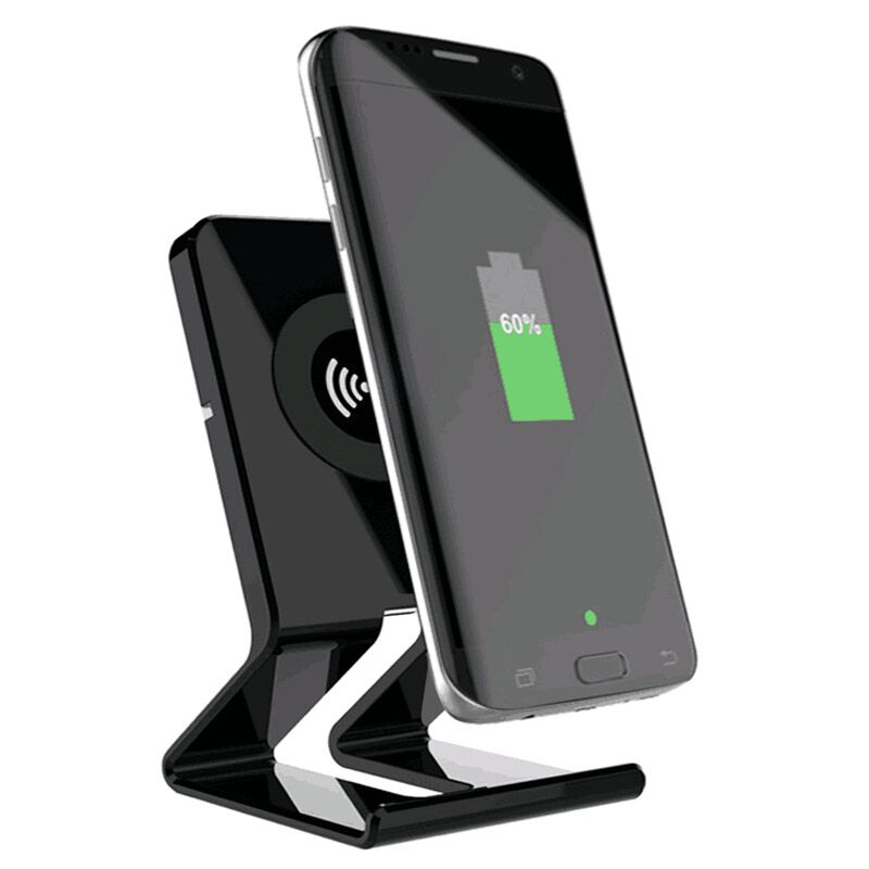 Fast Wireless Charger, Fast wireless Charging pad Stand for Galaxy S8/S8 Plus/Note 8- Black