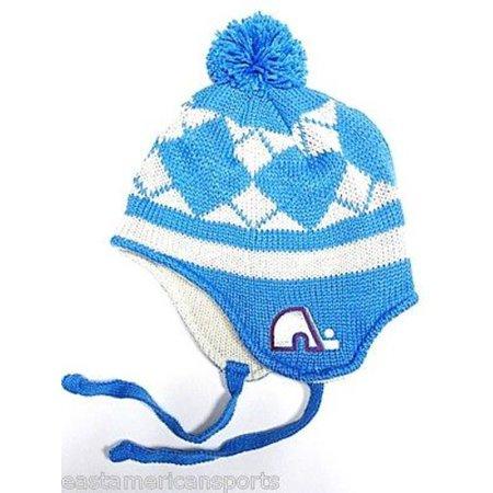 Quebec Nordiques NHL CCM Vintage Pom Ball Knit Hat Cap Trooper Winter