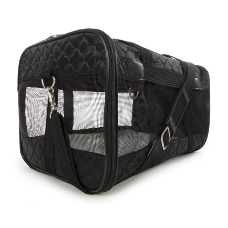 Sherpa® Travel Original Deluxe™ Airline Approved Pet Carrier, Large, Black Lattice Stitching