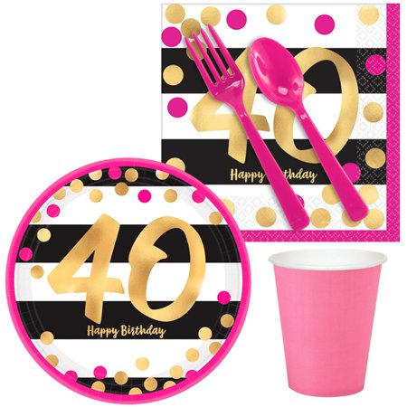 Pink & Gold 40th Birthday Snack Pack for -