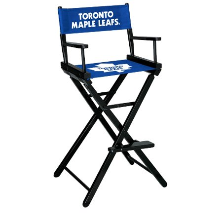 Imperial NHL Bar Height Directors Chair Toronto Maple Leafs by