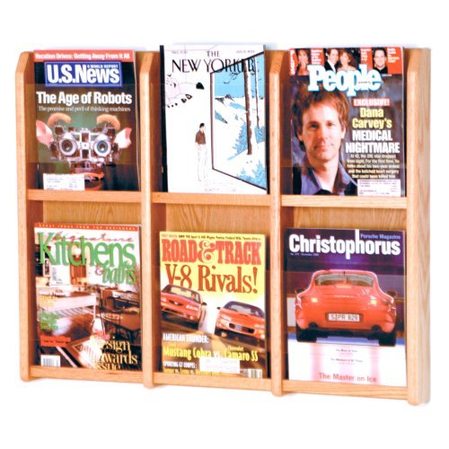 Wooden Mallet Divulge 6 Magazine Wall Display