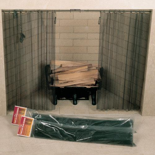 Woodfield  61084  Fireplace  Accessory  Screen  ;Black