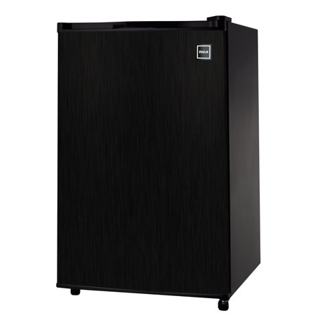 RCA 4.5 Cu Ft Single Door Mini Fridge RFR453, Black Stainless