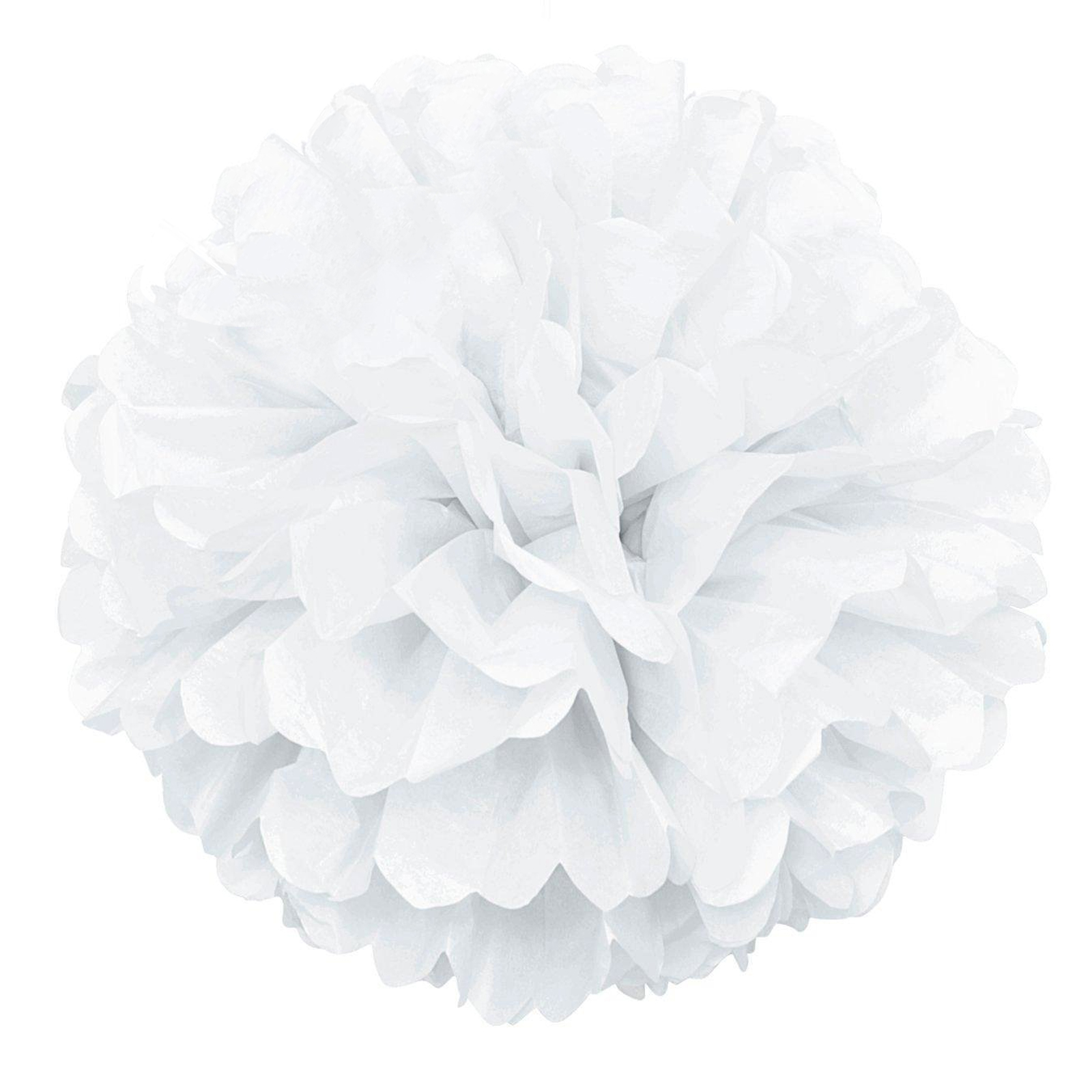 White Tissue Paper Pom Pom, 16in