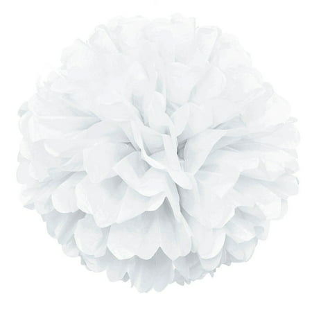 (9 pack) White Tissue Paper Pom Pom, 16in - Tissue Paper Ideas For Halloween
