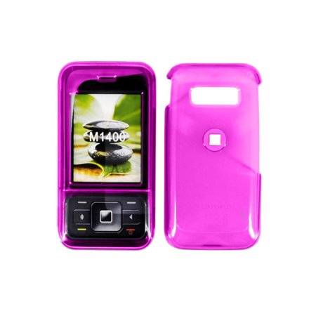 METRO PCS M1400 Snap-On Case. Translucent Dark Pink. M1400COVDKPKMET