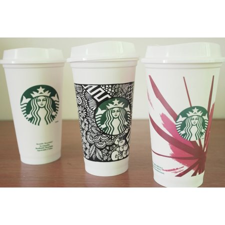 LAMINATED POSTER Instagram Food White Coffee Tumbler Starbuck Cafe Poster Print 24 x 36