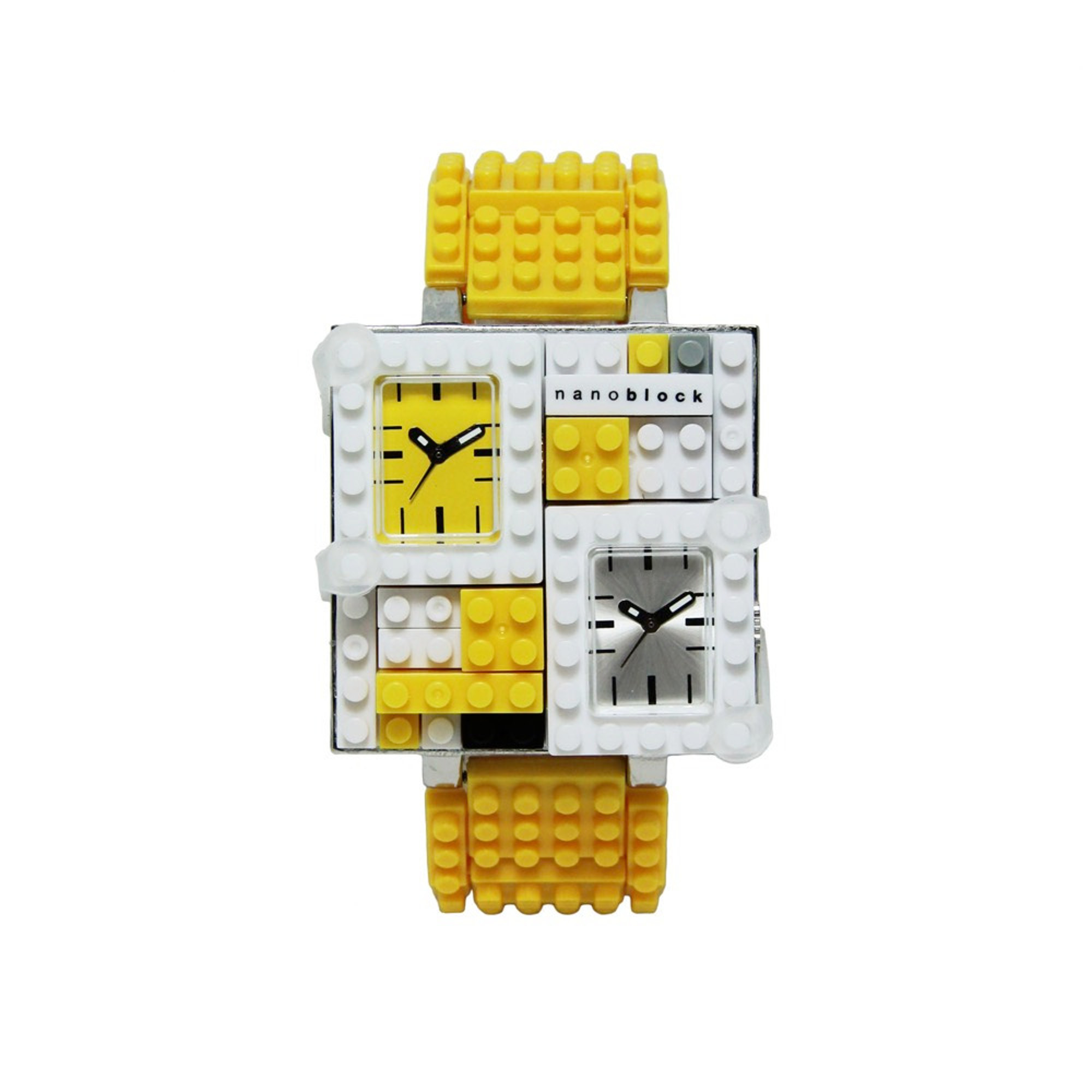 Nanoblocktime Traveler Metal Watch, Yellow by Beta Enteprises Inc.