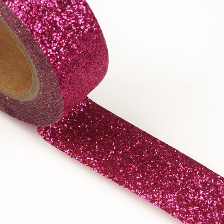"9/16"" X 5yd Hot Pink Glitter Washi Tape  by Paper Mart"