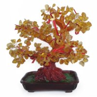 Citrine Gem Tree with Coins