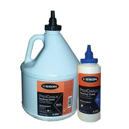 ProChalk 105BLACK Standard Grade Marking Chalk Refill, 5 lb, Jug, Black,  Powder