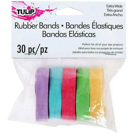 Tulip Wide Rubber Bands 30/pkg- - Colored Rubber Bands
