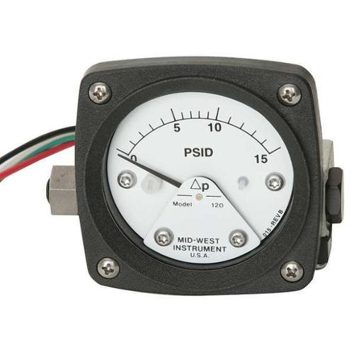 MIDWEST INSTRUMENT 120-AA-00-O(CA)-15P Pressure Gauge, 0 to 15 psi by MIDWEST INSTRUMENT