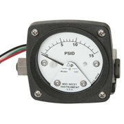 MIDWEST INSTRUMENT 120-AA-00-O(CA)-15P Pressure Gauge,0 to 15 psi