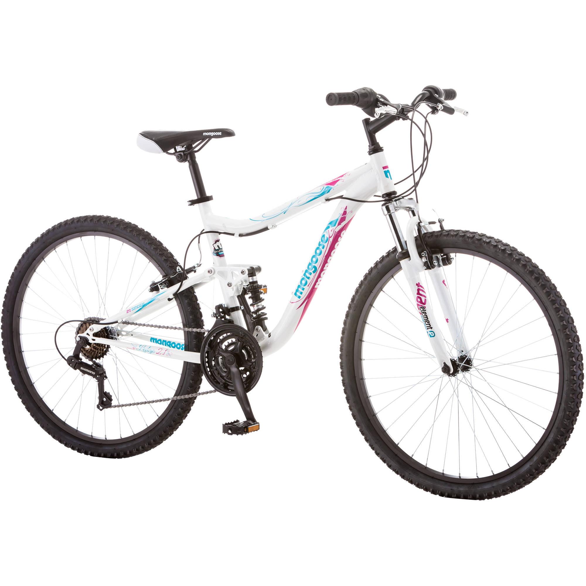 "Mountain Bike 26"" Women Dual Suspension Aluminum Frame Bicycle 21 ..."