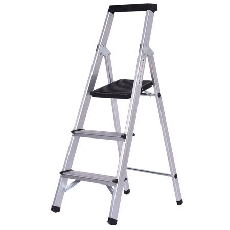 Non Slip Aluminum 3 Step Ladder Folding Work Stool