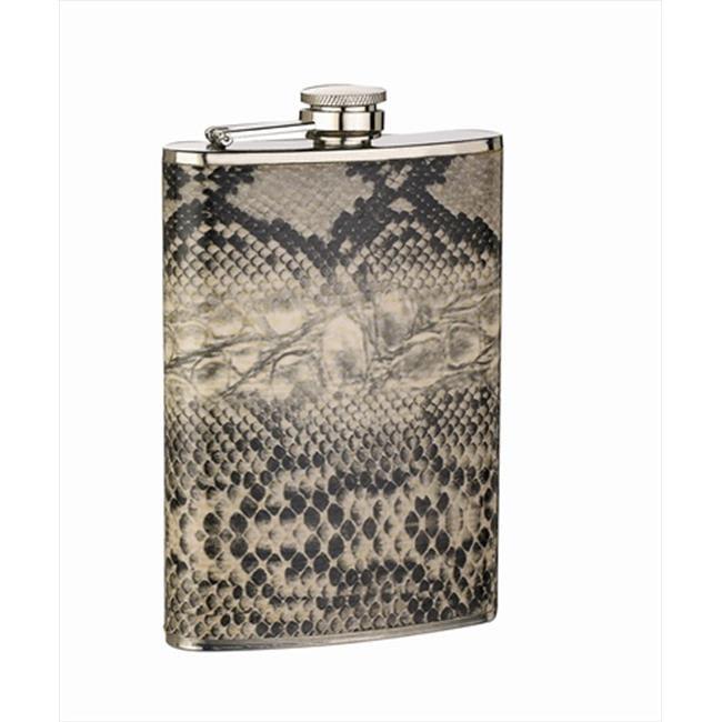 FJX Wholesale HFL-SP023 8oz Snake Skin Wrapped Flask