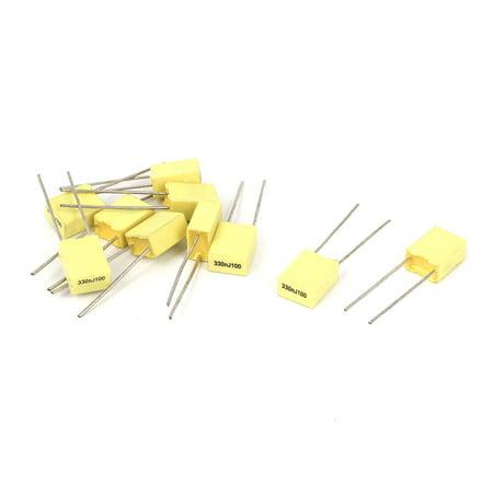 Mfd 100v Radial - 10 Pcs 330NJ100 0.33UF 100V Radial Polyester Film Box Type Correction Capacitors