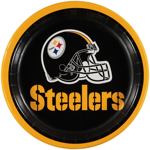 Pittsburgh Steelers 8-Pack Lunch Plate Set - No Size