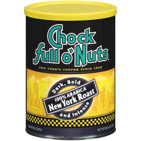 Chock Full o' Nuts 100% Arabica New York Roast Ground Coffee, 10.5 Ounce Can