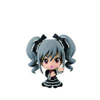 banpresto the idolmaster 2.4-inch kanzaki ranko cinderella girls figure, chibi-kyun-chara cool visual series