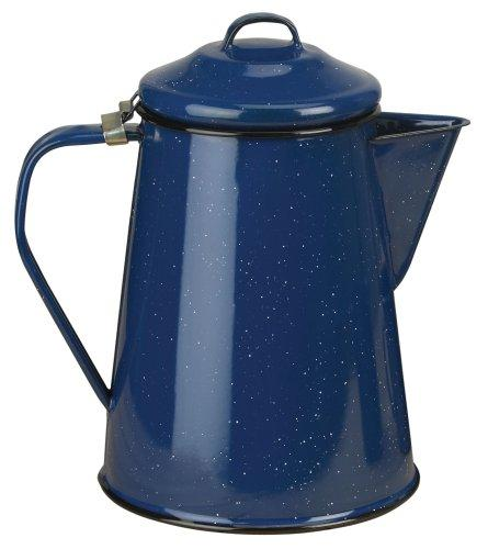 Enamel Coffee Pot 12 Cup w/Perc