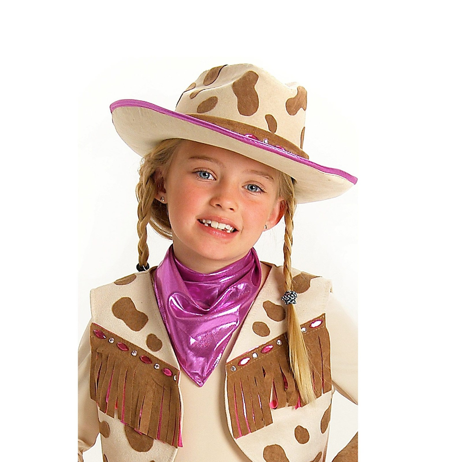 Rhinestone Cowgirl Hat Halloween Costume Accessory