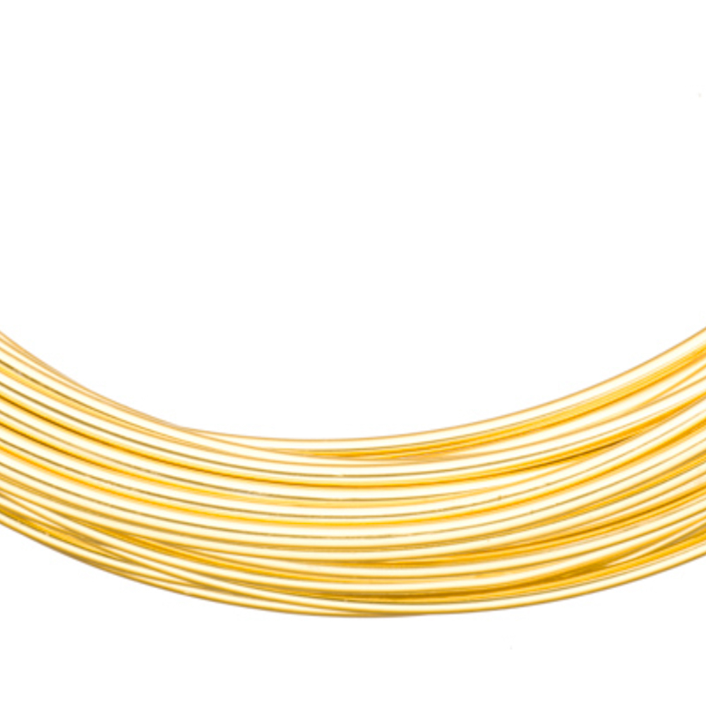 Aluminum Beading Wire, Anodized 18K Gold-Finished 12 Gauge 48-foot coil jewelry wire