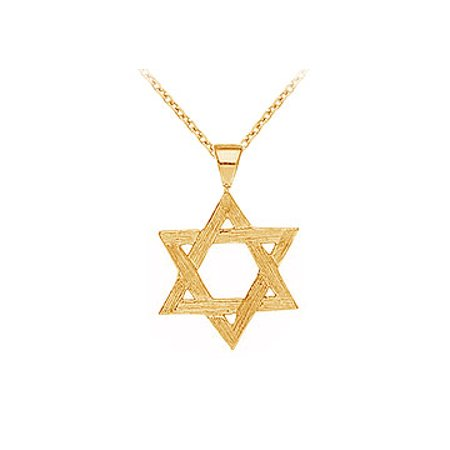 Beautiful Yellow Gold vermeil Star Pendant with Free 16 Inch Chain Pretty Design Best