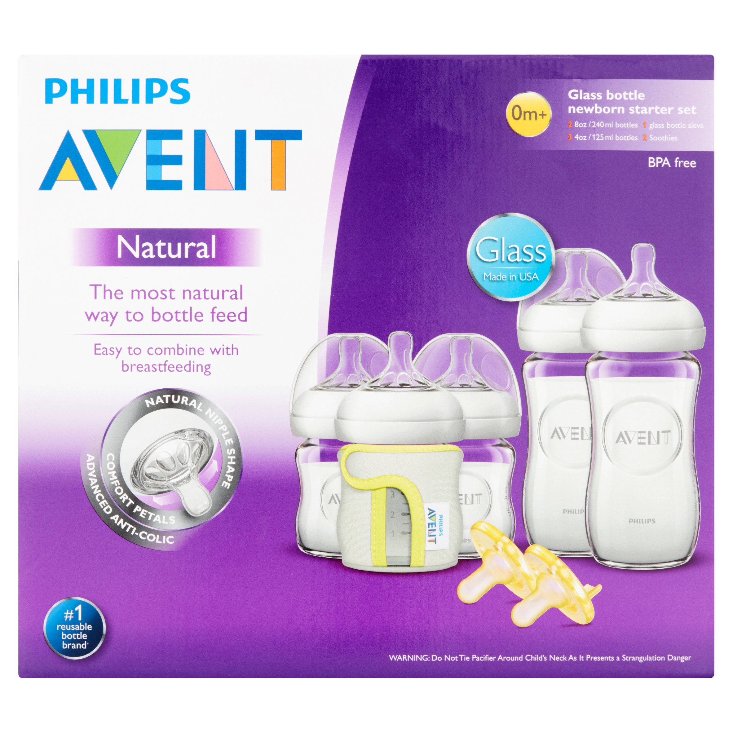 Philips Consumer Lifestyle, a Division of Philips Electronics North America Corporation Philips Avent Natural Glass Baby Bottle Newborn Starter Set, BPA - Free