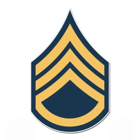 - U.S. Army Staff Sergeant Rank - Vinyl Sticker Waterproof Decal Sticker 5