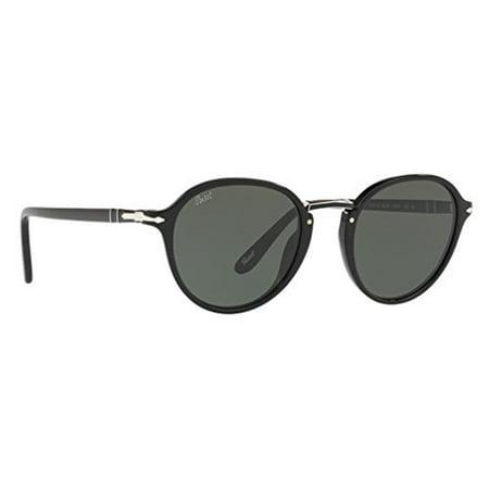 dc0e476629 Persol - Persol PO3184S 95 31 Black PO3184S Round Sunglasses Lens Category  3 Size 49mm - Walmart.com