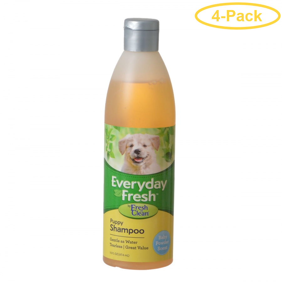 Fresh 'n Clean Everyday Fresh Puppy Shampoo Baby Powder Scent 16 oz Pack of 4 by
