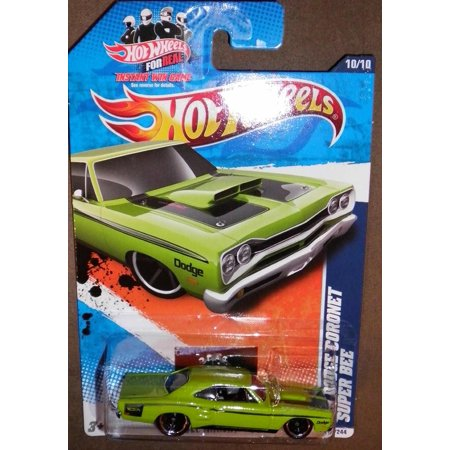 2011 MUSCLE MANIA '11 10/10 GREEN '69 DODGE CORONET SUPER BEE 110/244, MUSCLE MANIA SERIES By Hot