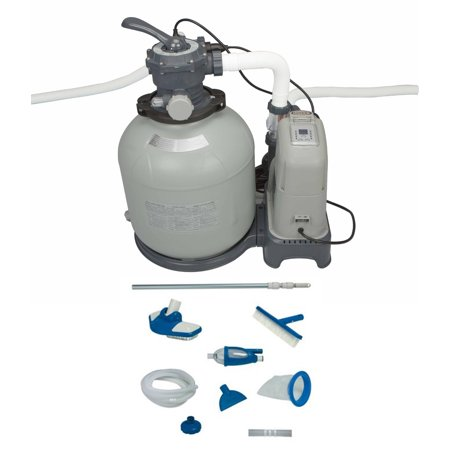 Saltwater System - Intex 2650 GPH Sand Filter Pump & Saltwater System Set w/ Deluxe Maintenance Kit