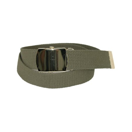 Size one size Kid's Cotton Adjustable Belt with Brass Military Buckle (Pack of 2) 2 Adjustable Belt