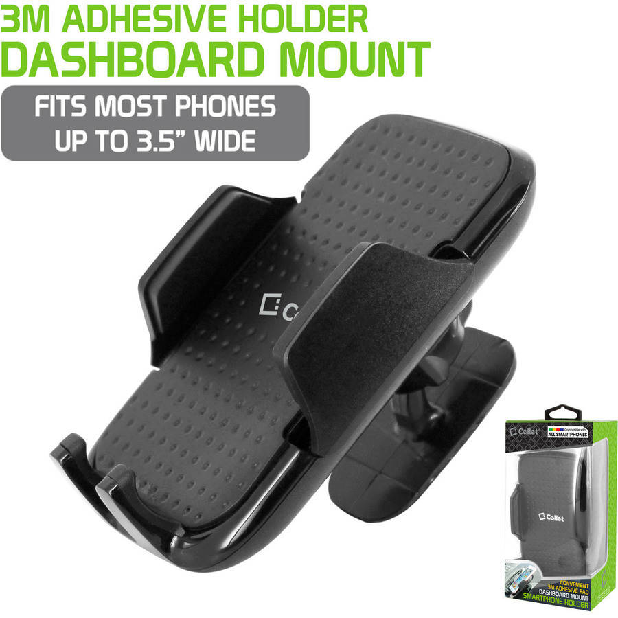 Dashboard Mount, Cellet Car Dashboard Mount Smartphone Holder for Samsung Note 8, Galaxy S8 8Plus and iPhone X, 8, 8Plus and all Smart Phones.