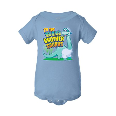 Infant I'm the Big Brothersaurus Bodysuit - Baby Blue - 12M - image 1 of 1