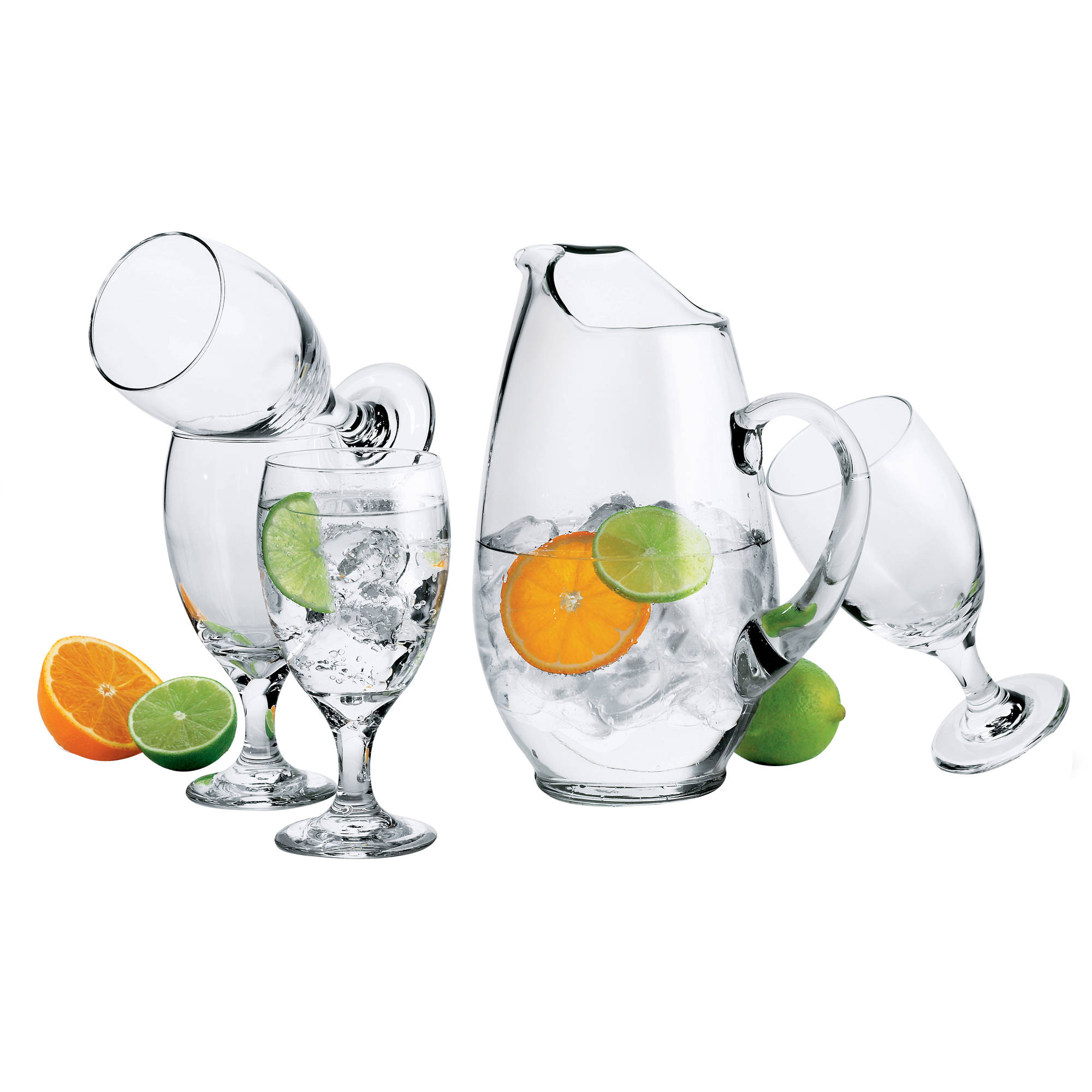 Libbey Carolina Pitcher and Glass Set, 7pc